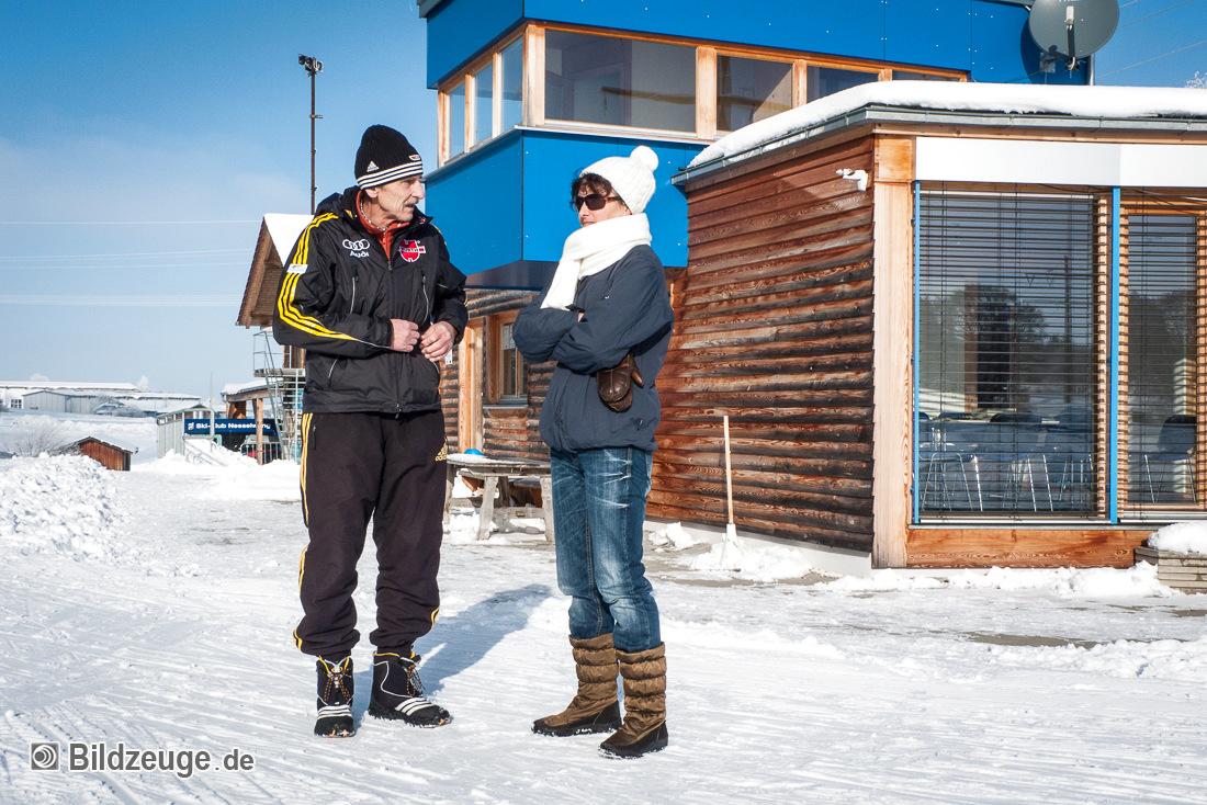 Biathlontrainer Rauscher im Gespräch