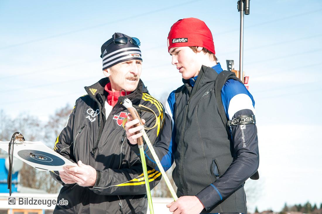 Trainer Manfred Rauscher mit Stefan Greis