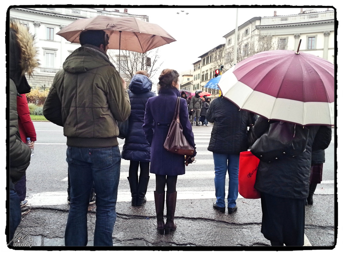 Schirmwetter in Florenz